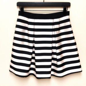 H&M Striped Pleated Mini Skirt